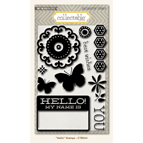 My Mind's Eye - Collectable Collection - Memorable - Clear Acrylic Stamps - Hello
