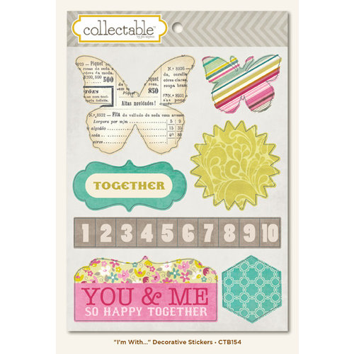 My Mind's Eye - Collectable Collection - Memorable - Cardstock Stickers - I'm With