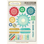 Collectable Collection - Remarkable - Chipboard Stickers - Authentic by My Mind's Eye