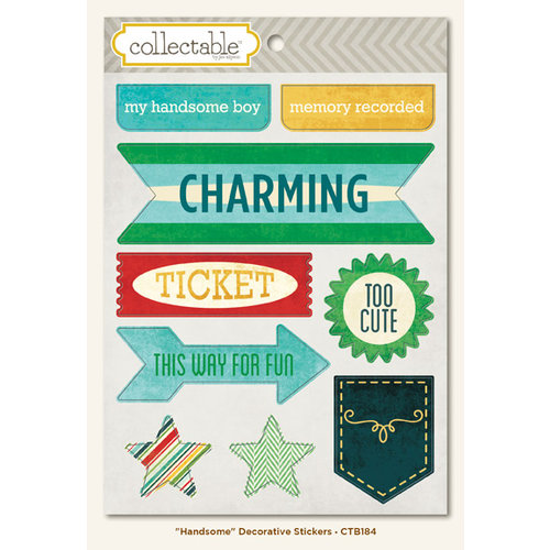 Collectable Collection - Remarkable - Cardstock Stickers - Handsome by My Mind's Eye