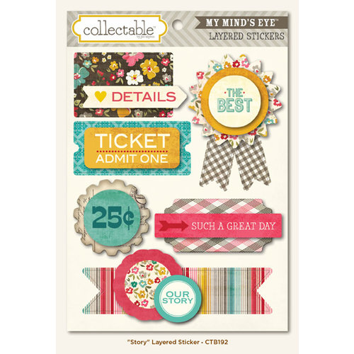My Mind's Eye - Collectable Collection - Unforgettable - 3 Dimensional Stickers - Story