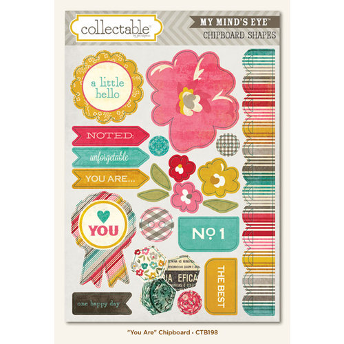 My Mind's Eye - Collectable Collection - Unforgettable - Chipboard Stickers - You Are