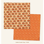 My Mind's Eye - Frightful Collection - Halloween - 12 x 12 Double Sided Paper - Pumpkin