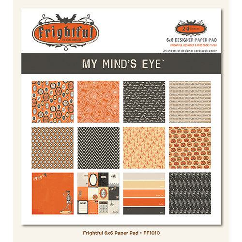My Mind's Eye - Frightful Collection - Halloween - 6 x 6 Paper Pad