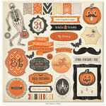 My Mind's Eye - Frightful Collection - Halloween - 12 x 12 Chipboard Stickers - Elements