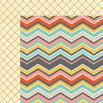 My Mind's Eye - Sky's the Limit Collection - 12 x 12 Double Sided Paper - Mixed-Chevron