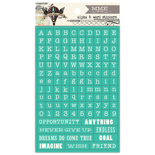 My Mind's Eye - Sky's the Limit Collection - Cardstock Stickers - Tiny Words