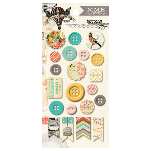 My Mind's Eye - Sky's the Limit Collection - Decorative Buttons