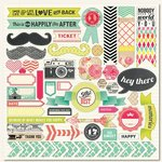 My Mind's Eye - Up and Away Collection - 12 x 12 Cardstock Stickers