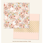 My Mind's Eye - Fancy That Collection - Pearl - 12 x 12 Double Sided Paper with Foil Accents - Bouquet
