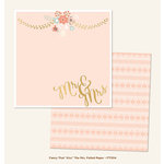 My Mind's Eye - Fancy That Collection - Kiss - 12 x 12 Double Sided Paper with Foil Accents - The Mrs.