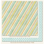 My Mind's Eye - Follow Your Heart Collection - Be Amazing - 12 x 12 Double Sided Paper - Be Striped