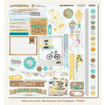 My Mind's Eye - Follow Your Heart Collection - Be Amazing - 12 x 12 Chipboard Stickers - Elements