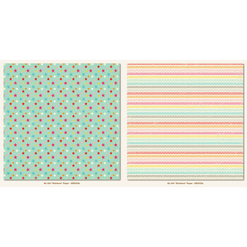 My Girl Collection - 12 x 12 Double Sided Paper - Rainbow by My Mind's Eye