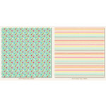 My Mind's Eye - My Girl Collection - 12 x 12 Double Sided Paper - Rainbow