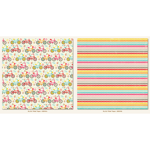 My Mind's Eye - My Girl Collection - 12 x 12 Double Sided Paper - Ride
