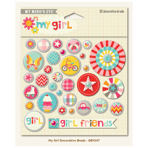 My Mind's Eye - My Girl Collection - Decorative Brads