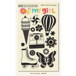 My Mind's Eye - My Girl Collection - Clear Acrylic Stamps