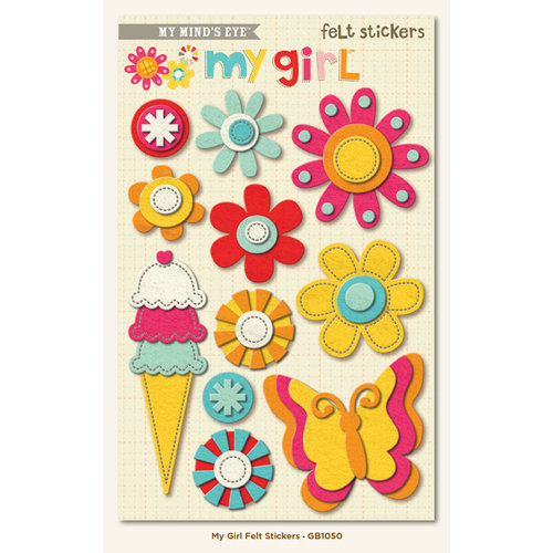 My Mind's Eye - My Girl Collection - Felt Stickers