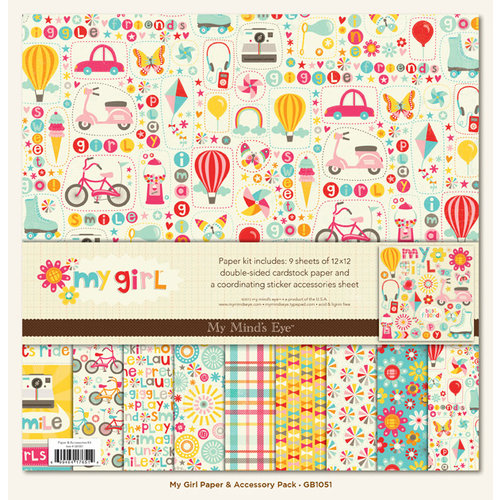 My Mind's Eye - My Girl Collection - Paper Kit