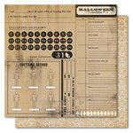 My Mind's Eye - Haunted Collection - Halloween - 12 x 12 Double Sided Kraft Paper - Halloween Checklist, CLEARANCE