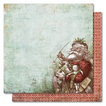 My Mind's Eye - Holly Jolly Collection - Christmas - 12 x 12 Double Sided Paper - Old St. Nick, CLEARANCE