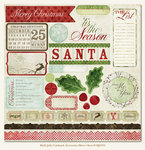 My Mind's Eye - Holly Jolly Collection - Christmas - 12 x 12 Die Cut Paper - Holly Jolly