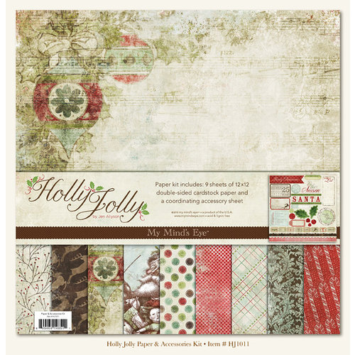 My Mind's Eye - Holly Jolly Collection - Christmas - Paper Kit, CLEARANCE