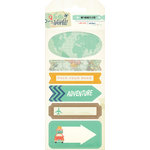 My Mind's Eye - Hello World Collection - Travel - Cardstock Stickers