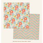 My Mind's Eye - Hello World Collection - Discovery - 12 x 12 Double Sided Paper - Flowers