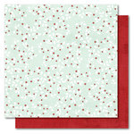 My Mind's Eye - I Believe Collection - Christmas - 12 x 12 Double Sided Glitter Paper - Berries, CLEARANCE