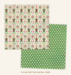 My Mind's Eye - Jubilee Collection - Mint Julep - 12 x 12 Double Sided Foil Paper - Wild Tribal