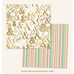 My Mind's Eye - Jubilee Collection - Mint Julep - 12 x 12 Double Sided Foil Paper - Wild Ampersand