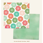 My Mind's Eye - Jubilee Collection - Mint Julep - 12 x 12 Double Sided Paper - Beautiful Doily