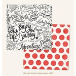 My Mind's Eye - Jubilee Collection - Mint Julep - 12 x 12 Double Sided Paper - Journey Adventure