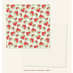 My Mind's Eye - Jubilee Collection - Mint Julep - 12 x 12 Double Sided Paper - Journey Fields