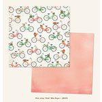 My Mind's Eye - Jubilee Collection - Mint Julep - 12 x 12 Double Sided Paper - Ride Bike