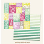 My Mind's Eye - Jubilee Collection - Sherbet - 12 x 12 Double Sided Paper - Pretty Quotes