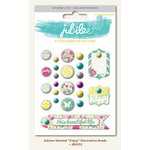 My Mind's Eye - Jubilee Collection - Sherbet - Decorative Brads - Enjoy