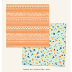My Mind's Eye - Jubilee Collection - Tangerine - 12 x 12 Double Sided Paper - Story Wonderful