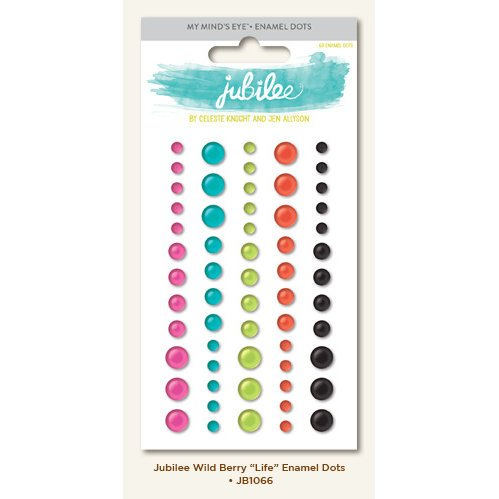 My Mind's Eye - Jubilee Collection - Wild Berry - Enamel Dots - Life