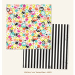 My Mind's Eye - Jubilee Collection - Wild Berry - 12 x 12 Double Sided Paper - Love Stamped
