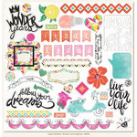 My Mind's Eye - Jubilee Collection - Wild Berry - 12 x 12 Chipboard Stickers - Elements - Wonder
