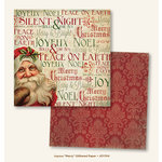 My Mind's Eye - Joyous Collection - Christmas - 12 x 12 Double Sided Glitter Paper - Merry
