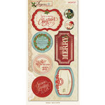 My Mind's Eye - Joyous Collection - Christmas - Cardstock Stickers - Gift Labels