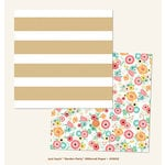 My Mind's Eye - Just Saying Collection - 12 x 12 Double Sided Glitter Paper - Garden Party