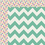 My Mind's Eye - Kate and Co Collection - Cambridge Court - 12 x 12 Double Sided Paper - Chevron