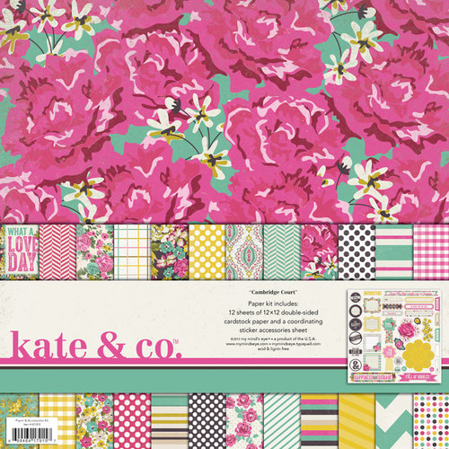 My Mind's Eye - Kate and Co Collection - Cambridge Court - 12 x 12 Paper Kit