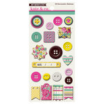 My Mind's Eye - Kate and Co Collection - Cambridge Court - Chipboard Buttons