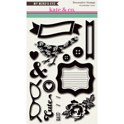 My Mind's Eye - Kate and Co Collection - Cambridge Court - Clear Acrylic Stamps